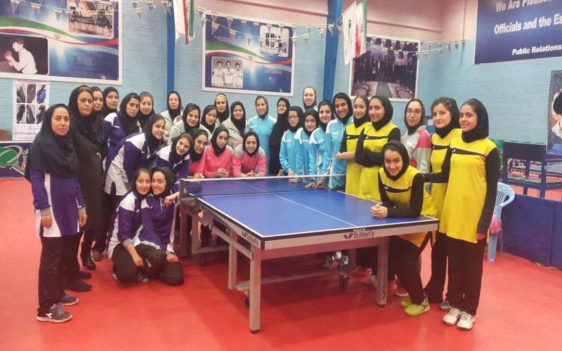 نایب قهرمانی تیم پینگپنگ دختران مس در دور رفت لیگ برتر