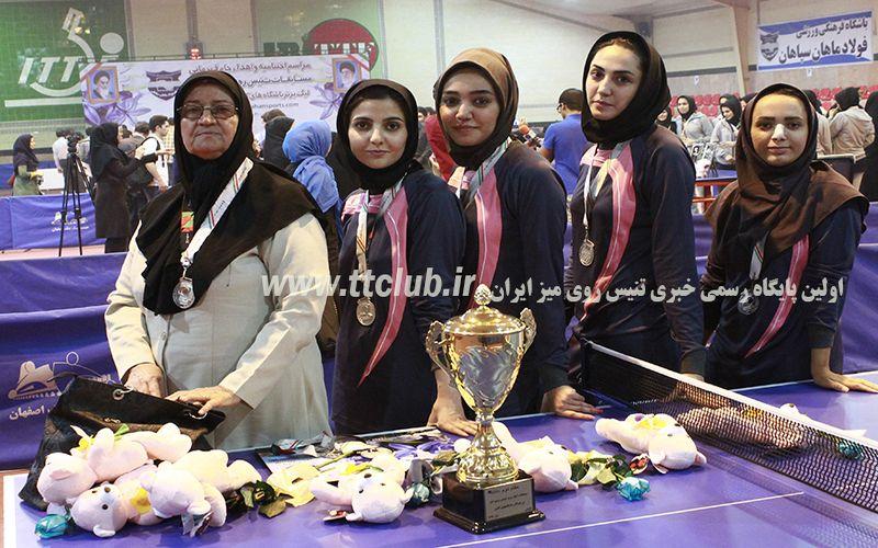 مربی تنیس روی میز دختران مس: با برگزاری بازیهای برگشت در اصفهان مخالفیم