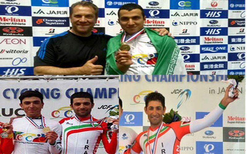 سه مدال از شش مدال تیم ملی دوچرخهسواری روی رکاب مسیها