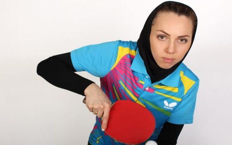 دختر پینگپنگباز تیم مس: خودم اوکراینی و پرچمم ایرانی است