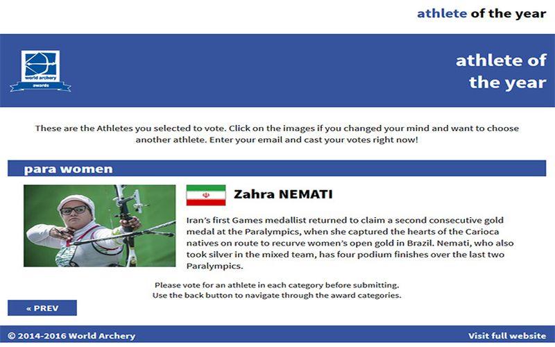 ورزشکار پرافتخار مس در راس اخبار/برای انتخاب تیرانداز برتر سال جهان به زهرا نعمتی رای دهید