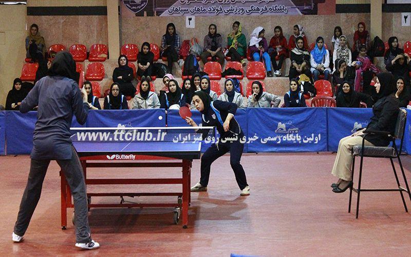 نایب قهرمانی تیم تنیس روی میز دختران مس در دور رفت لیگ برتر