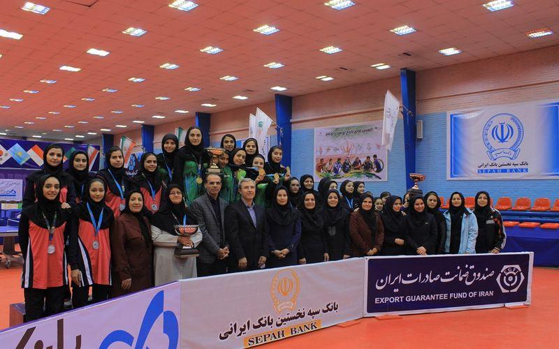 نایب قهرمانی دختران تیم تنیس روی میز مس در لیگ برتر