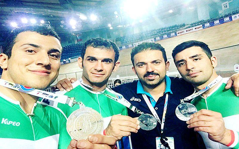 مربی و دوچرخهسواران ملیپوش مس در مسابقات قهرمانی آسیا ترکمنستان