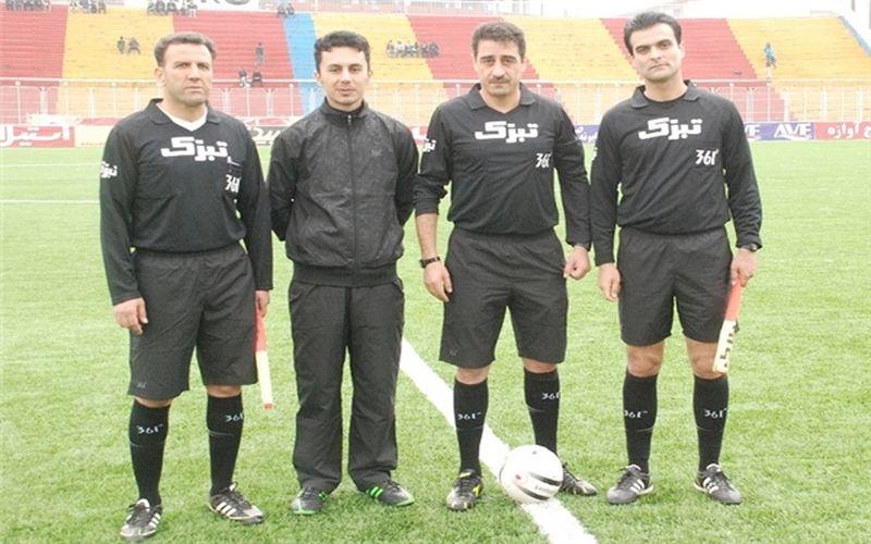 حسین زیاری داور بازی مس و برق جدید شیراز