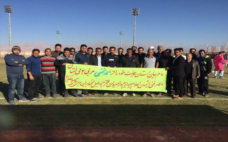 حمایت جمعی از مربیان و هواداران فوتبال کرمان از سرمربی مس کرمان