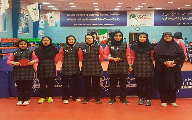 برنامه رقابتهای تیم تنیس روی میز دختران مس در لیگ برتر