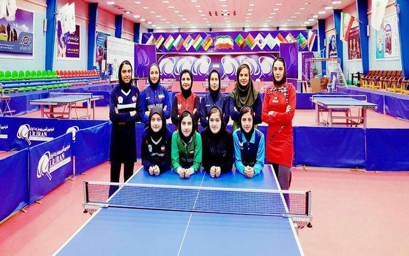 بازیکن تیم تنیس روی مس دختران مس در اردوی تیم ملی
