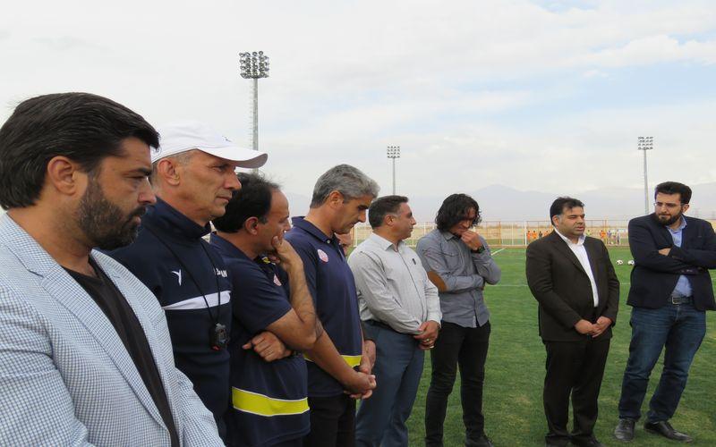 بازگشت فرزاد حسینخانی به تمرینات مس(گزارش تصویری)