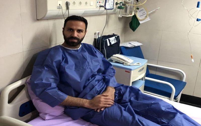 عمل جراحی رضایت بخش برروی پای فرهاد سالاری