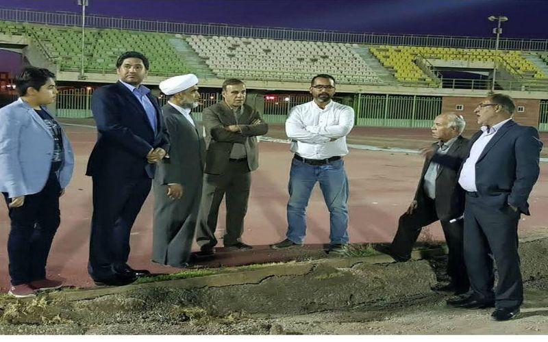 بازدید مقامات ارشد مس از روند بازسازی ورزشگاه باهنر/تلاش برای آمادگی استادیوم در شروع بازیها