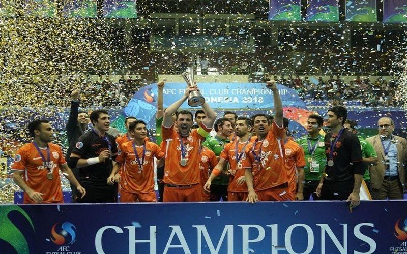 تبریک باشگاه مس کرمان به باشگاه مس سونگون برای قهرمانی در فوتسال آسیا