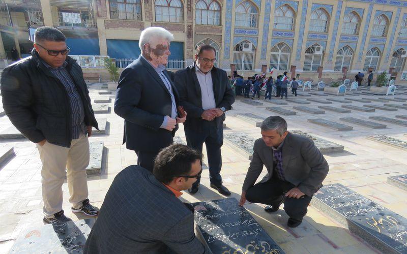 حضور سرپرست جدید باشگاه مس در گلزار شهدا کرمان