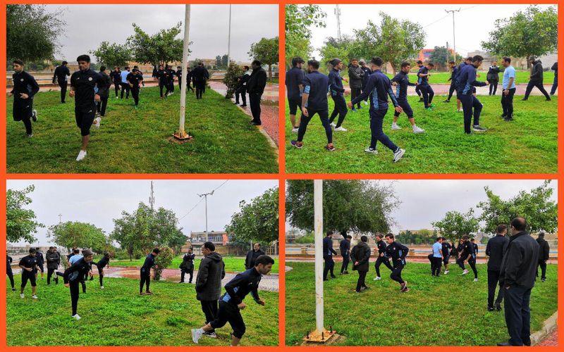 تمرین مسیها در هوای بارانی ماهشهر/بازی را از کانال باشگاه مس دنبال کنید