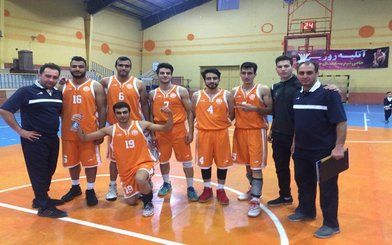 بسکتبالیست های مس در جهرم جواز صعود تنظیم کردند/یک گام تا صعود به لیگ برتر(عکس)