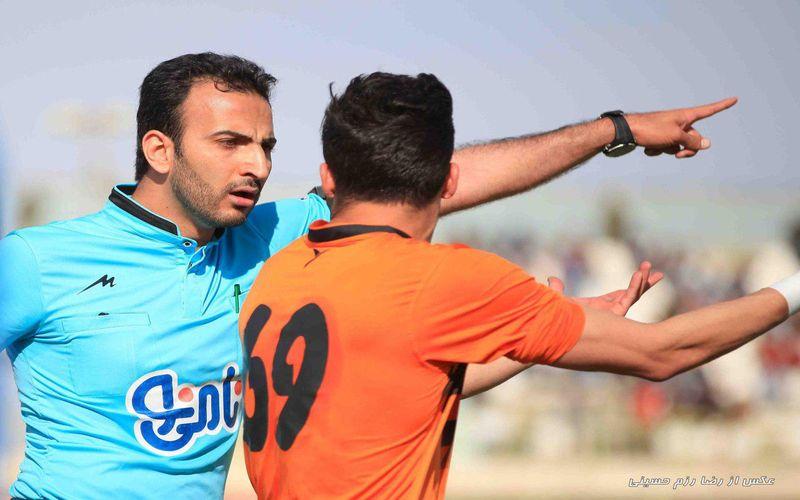 جواد محمدی و پنجمین قضاوت او برای مس در بازی با شاهین بوشهر