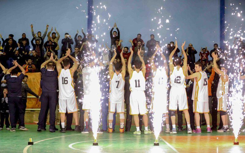 و سرانجام توپ بسکتبال از سبد صعود گذشت/جشن صعود لیگ برتر در حلقه بسکتبال مس