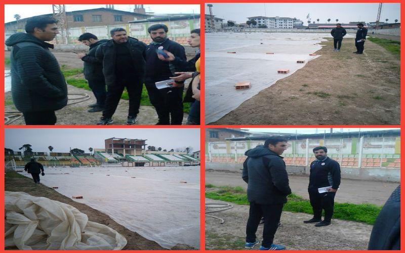 وضعیت اسفناک چمن ورزشگاه هفت تیر بابل برای بازی امروز مس