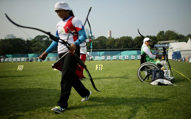زهرا نعمتی در رقابت های جهانی تیروکمان شرکت می کند