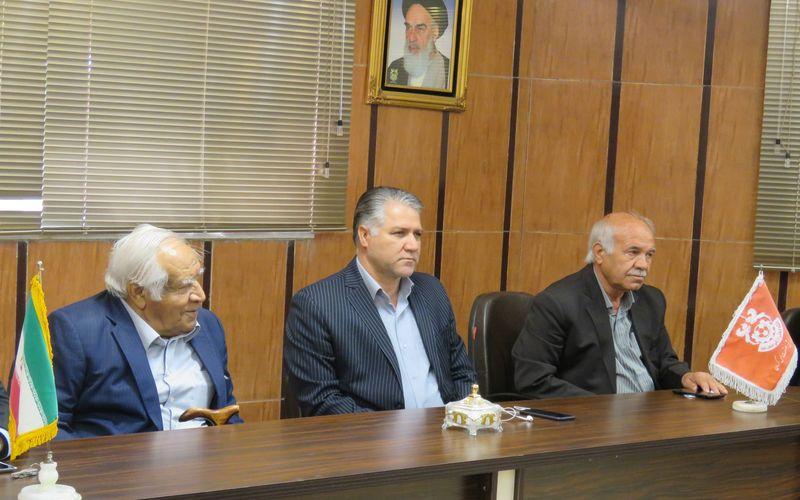 گزارش تصویری جلسه آقای محمودی نیا مدیرعامل باشگاه مس با کارکنان این باشگاه