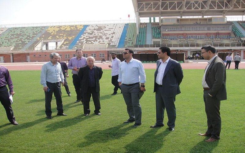 بازدید مقامات سازمان لیگ از ورزشگاه شهید باهنر کرمان برای میزبانی بازی های مس