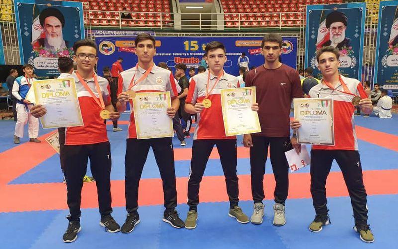 درخشش کاراته کاهای مس کرمان در مسابقات جایزه بزرگ وحدت و دوستی