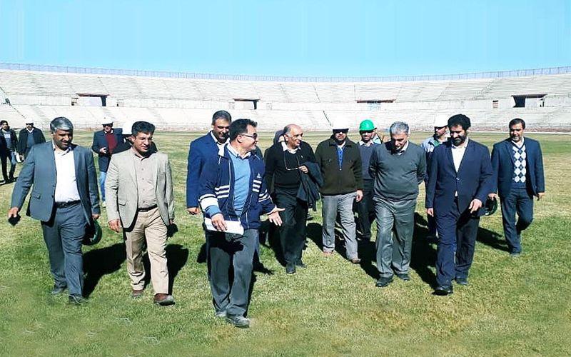 بازدید مدیرعامل شرکت مس از ورزشگاه شهدای مس کرمان