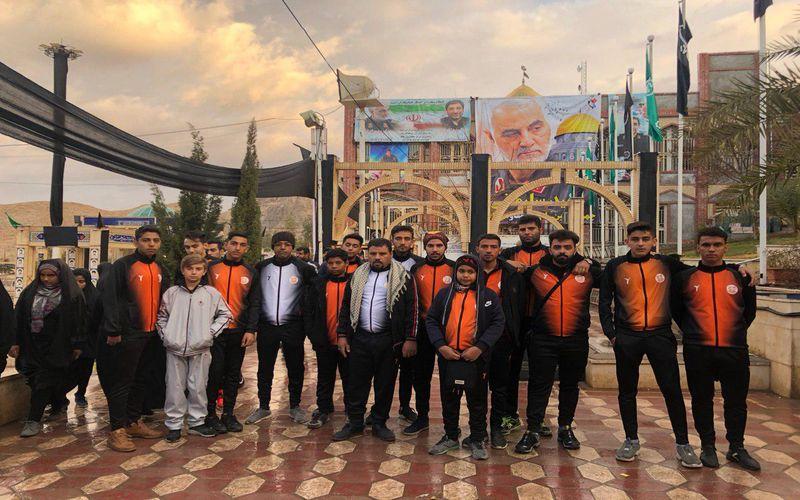 دوچرخه سواران باشگاه مس کرمان خیابان های شهر را به یاد شهید سلیمانی رکاب زدند(عکس)
