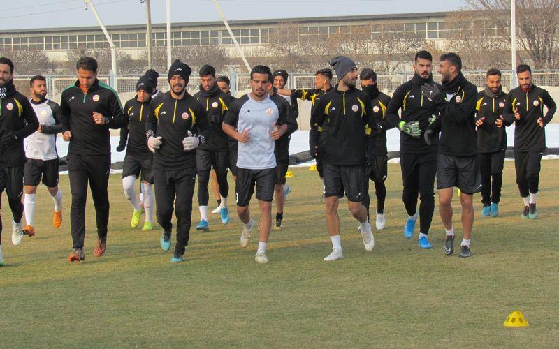 از سرگیری تمرینات تیم فوتبال مس در شهر کرمان