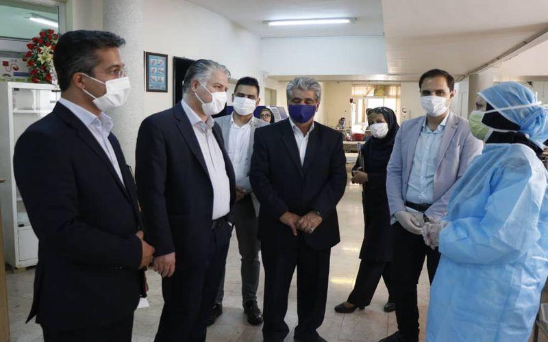 مقامات باشگاه مس در کنار مدافعان سلامت در مرکز بیماری های خاص(عکس)