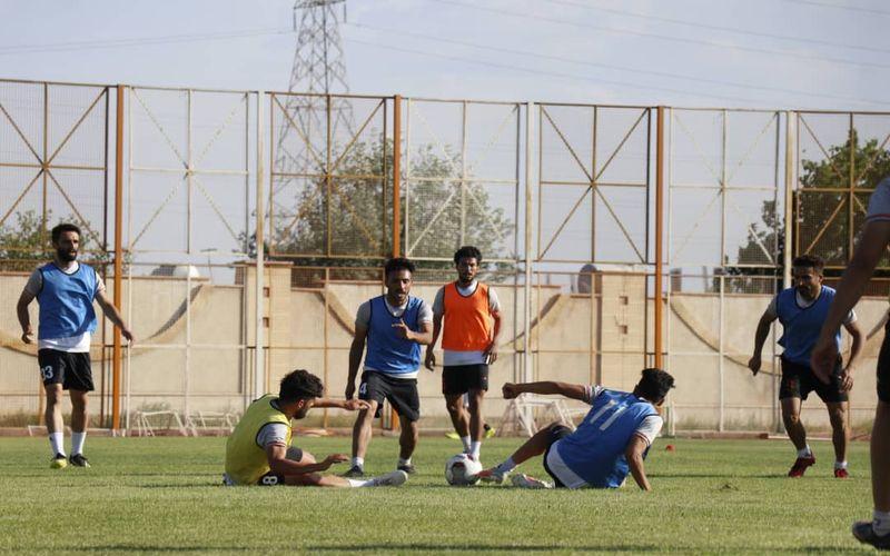 گزارش تصویری از ادامه تمرینات تیم فوتبال مس کرمان