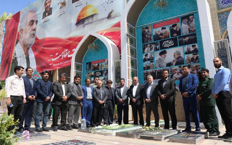 حضور مدیران و اعضای تیم تکواندو مس در گلزار شهدا و دیدار با مدیرکل ورزش و جوانان(عکس)