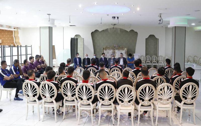 دیدار مدیرعامل شرکت ملی صنایع مس با اعضای تیم فوتبال مس کرمان(عکس)