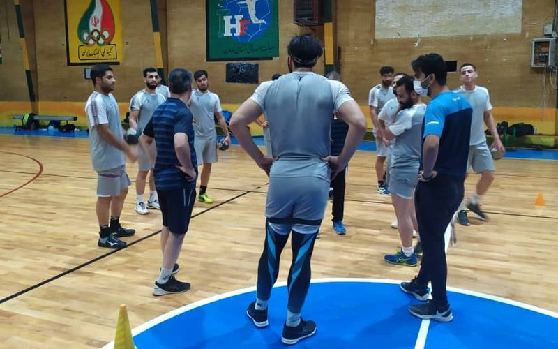 ادامه تمرینات تیم هندبال مس برای دور دوم لیگ برتر(عکس)