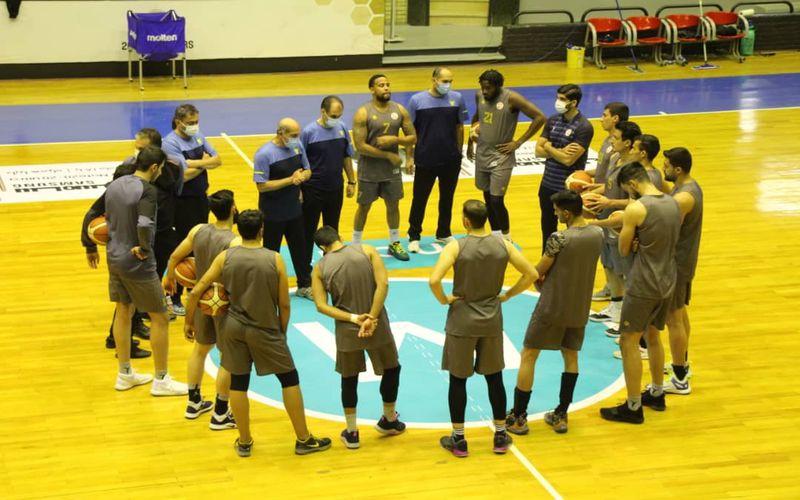 تمرین بسکتبالیست های مس کرمان در تهران برای آغاز لیگ برتر(عکس)