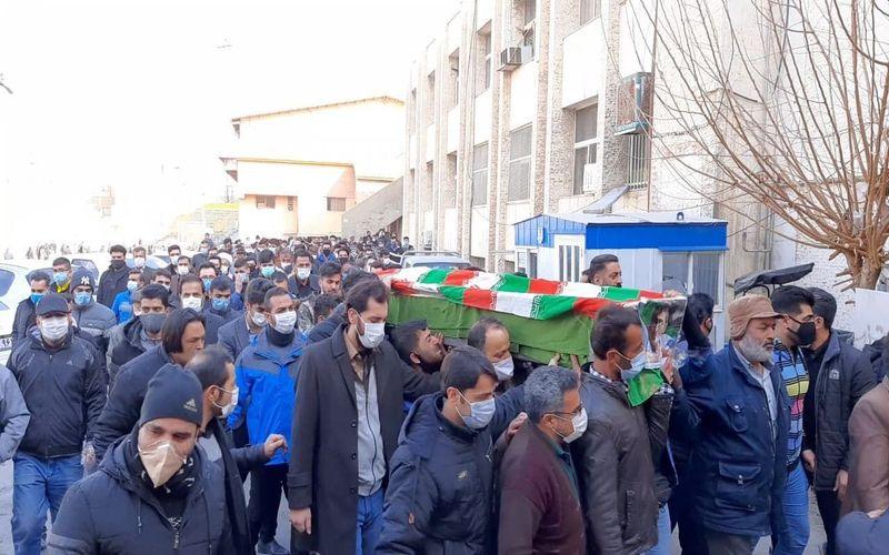 پیکر محمدرضا بابادی مربی تکواندو مس در اصفهان تشییع شد