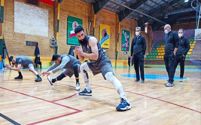 از سرگیری تمرینات تیم بسکتبال مس کرمان برای بازی آخر دور گروهی