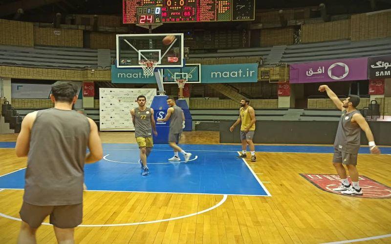 بسکتبالیست های مس آماده آخرین بازی دور گروهی(عکس)