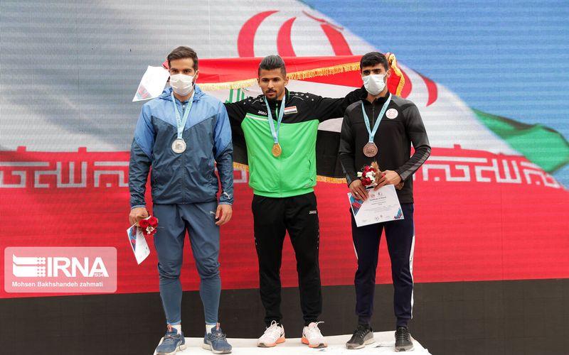 مدال برنز ابارقی در ماده غیر تخصصی خود در مسابقات دو و میدانی مشهد