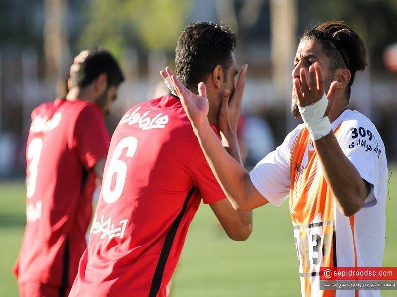 گزارش تصویری بازی سپیدرود 1-0 مس کرمان هفته سی ام رقابت های لیگ دسته یک - 16 تصویر