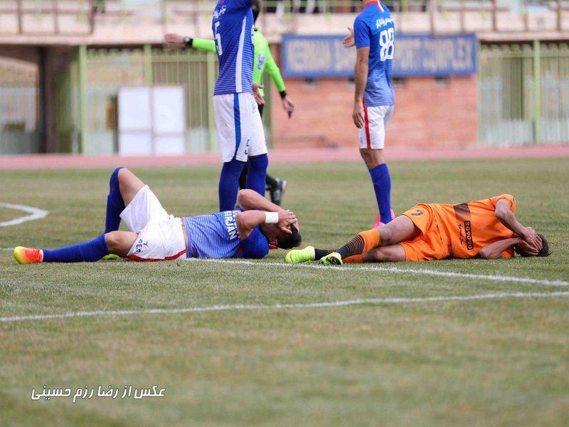 گزارش تصویری بازی مس0-1گلگهر هفته هجدهم لیگ یک فصل97-98 - 35 تصویر