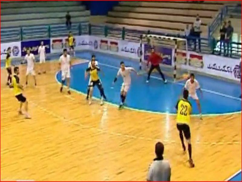 ویدیو حواشی بازی رده بندی هندبال مس25-24 کفش ملی در لیگ برتر
