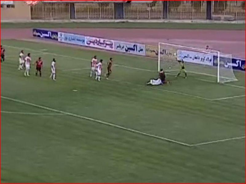 خلاصه بازی اکسین2-0 مس هفته سی وچهارم لیگ دسته اول کشور