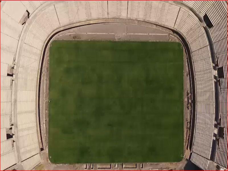 نمای هوایی چمن و استادیوم اختصاصی مس