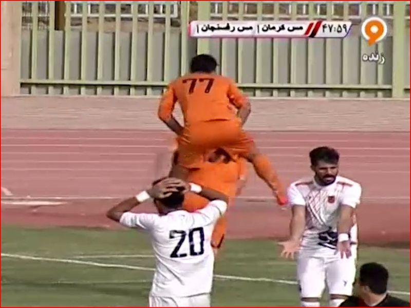 خلاصه بازی مس کرمان2-1مس رفسنجان هفته بیست و هفتم لیگ یک